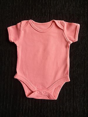 Baby clothes GIRL newborn 0-1m TU coral pink SS cotton bodysuit COMBINE POST!