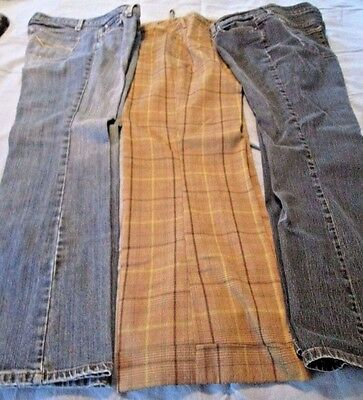 Lot Of Three (3) Pair Womens Size 11-12 Jeans / Casual Pants Riders, Mossimo +