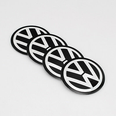 4pcs 56mm Car Wheel Center Hub Caps Sticker Emblem Badge VW