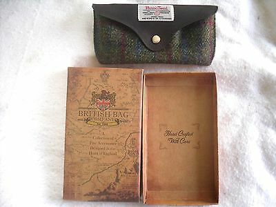 Glasses Case - Hand Woven Harris Tweed - By The British Bag Company - New Boxed.