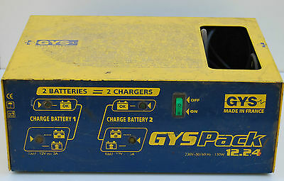 Chargeur De Batterie Gys Pack 12/24V Double Chargeur De Batteries.