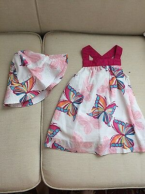 EUC - Baby Gap size 3-6 months Butterfly Dress and hat