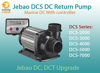 Jecod (Jebao) DCS Series (2000-7000) Marine DC Return Pump, DCT Series Upgrade