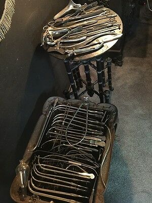 Antique Surgical Doctor's Instruments Laboratory Glass Macabre Dungeon Decor Lot