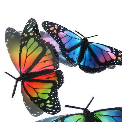 B007 - Rainbow Butterflies Weddings Crafts, Cake Topper Decorations Cards