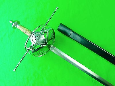 Windlass Made Replica Antique French France Musketeers Rapier Sword w/ Scabbard