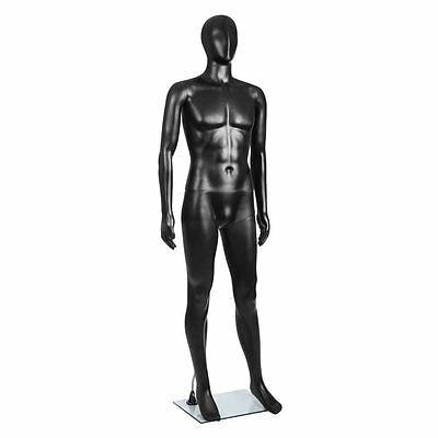 Full Body Male Mannequin Cloth Display Tailor Dressmaker Black 186cm