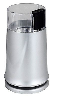 150W Electric Coffee Bean Grinder & Nut/Spice Grinder Kitchen Accessory Silver
