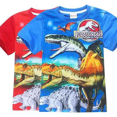 Jurassic Park Dinosaur  Boys Children Kids Summer Short T-shirt Tee Top Shirt