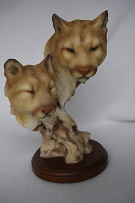 Cat Nap Mill Creek Studios 71210 Cougar Puma Mountain Lions Wooden Base Figure