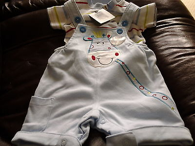 Baby boys blue  M&CO 2 piece outfit 0-3 months new with tags