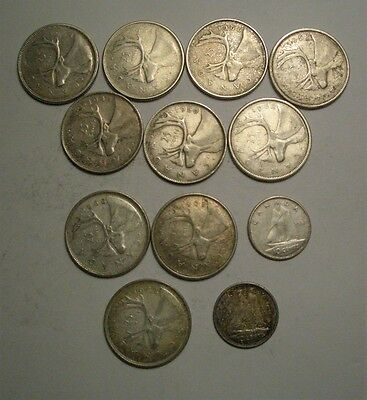 Collection Lot Canada Silver Coins**$2.70Face**Take a Look**