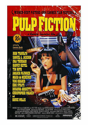 Pulp Fiction - Glossy, 10-mill thick - 11x17 inch Vintage Film Movie Poster