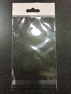 """CLEAR 3""""x 4"""" SELF ADHESIVE RESEALABLE OPP BAGS WITH HANGING HEADER 500 PCS"""