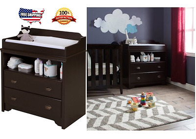 Baby Changing Table with Drawers Storage Shelf Toddler Nursery Furniture Decor