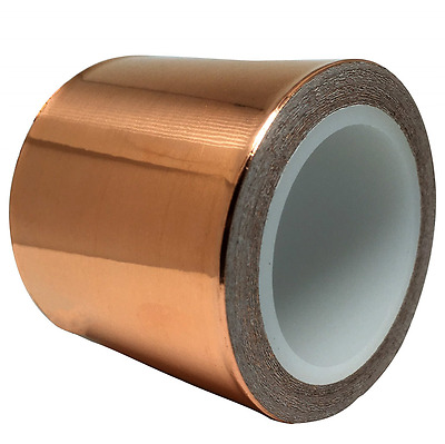 Copper Foil Tape (50mm by 6m) for Guitar & EMI Shielding, Slug Repellent, Crafts