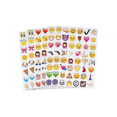 Haimi-hk Lovely 48 Cartoon Emoji Funny Smiling Expression Face Decor Sticker