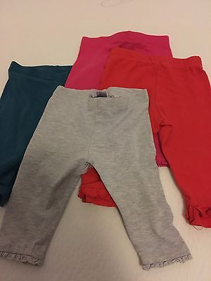 4 X Next Girls Leggings 3-6