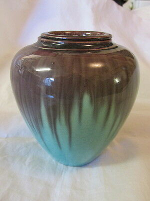 19Th Century Chinese/oriental Drip Glaze Pottery Lidded Jar Fine Crackle