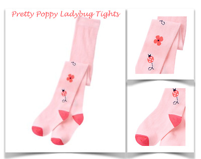 *new* Gymboree Little Girls Size 2T-3T Pink Floral Ladybug Tights