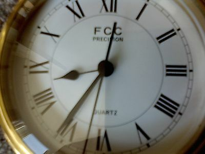 antique vintage brass ships cabin clock by FCC precision