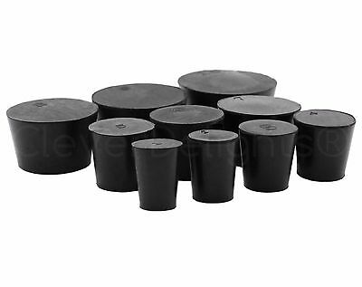 10 Pack - Solid Rubber Stoppers - Size #1 to #10 - 1 2 3 4 5 6 7 8 9 10