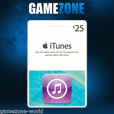 iTunes Gift Card £25 GBP UK Apple iTunes Code 25 Pound United Kingdom