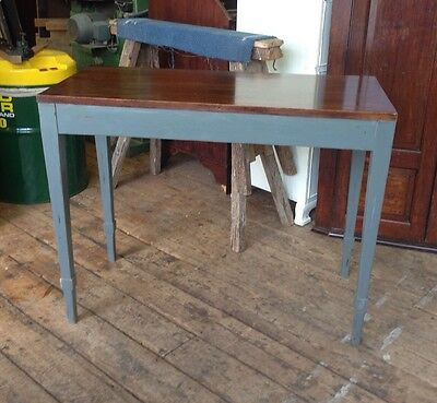 Georgian Mahogany Antique Side Hall Table Painted