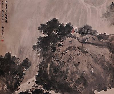 A Chinese Scroll Painting (Attributed to Fu Baoshi )