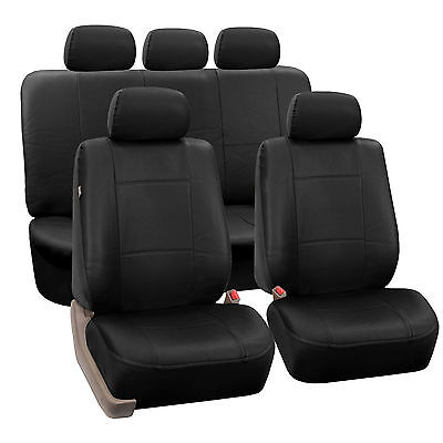 Magnificent Full Black Car Seat Covers Set W Headrests 60 40 Split Bench Dailytribune Chair Design For Home Dailytribuneorg