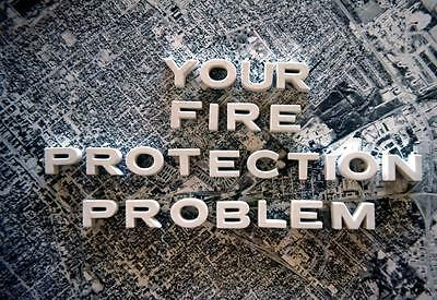 sl23  VINTAGE 35MM ORIGINAL SLIDE ☆  1976 YOUR FIRE PROTECTION PROBLEM 683A