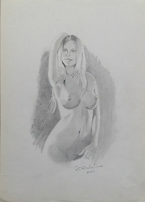 Original Nude Study In Graphite Pencil 2001