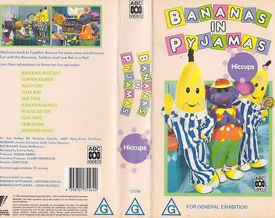 Bananas In Pyjamas Hiccups   Vhs Video Pal~ A Rare Find