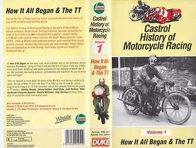 Motorcycle Castrol History Of Motorcycle Racing  Vol1 Vhs Pal Video  A Rare Find