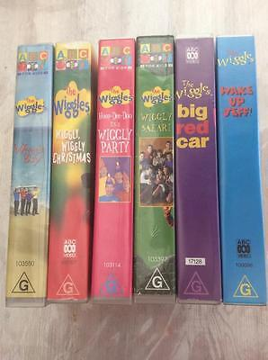 THE WIGGLES x 6 VHS VIDEOS  PAL~ A RARE FIND