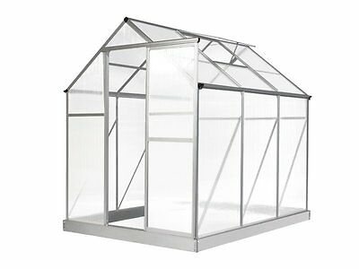 Evergreen Greenhouse 6 x 8ft Silver Small Green Houses Polycarbonate NEW