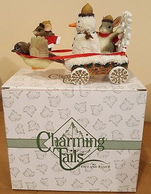 Charming Tails THE SNOWMAN FLOAT Figurine 87/626 with Box Fitz & Floyd
