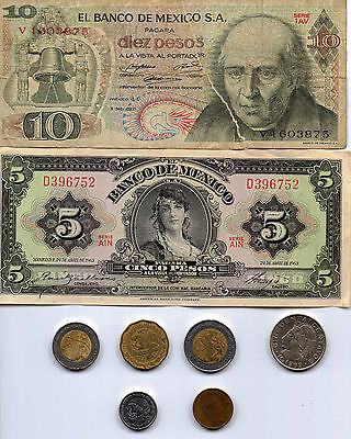 Mexican Coins and Notes Collection