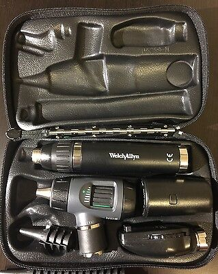 Welch Allyn Diagnostic Set Lithium Handle Macroview Otoscope & Ophthalmoscope