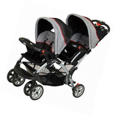 Twin Baby Sit Stand Double Stroller Travel System Infant Toddler Car Seat NEW