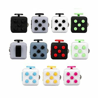 Popular Fidget Toy Cube Relieves Stress & Anxiety for Children Adults UK Seller