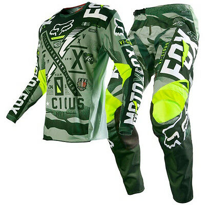 New FOX Racing 2016 180 Vicious Army Adult Motocross Jersey Pants Outfit MX
