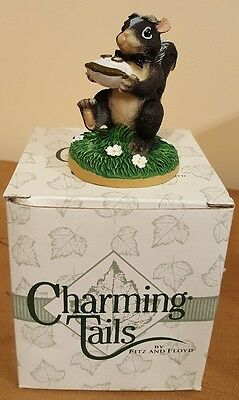 "NEW Charming Tails ""THE RING BEARER Wedding Figurine 82/104 w/ Box Stewart Skunk"