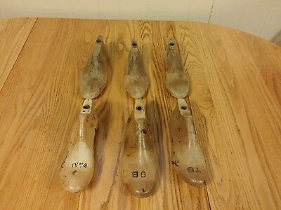 Vintage Lot of 6 Antique Wood Shoe Molds 1930's to 1950's?