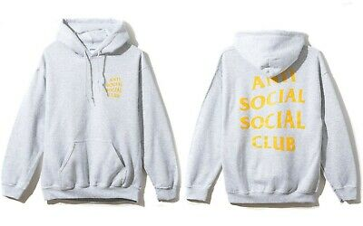 678ad0396378 DS Anti Social Social Club ASSC blocked white logo Block Me Black Hoodie  size S