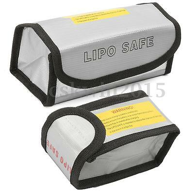 2-Size Lipo Battery Fireproof Explosionproof Protection Guard Charging Bag