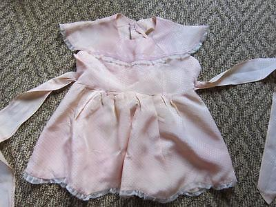 VINTAGE BABY  DRESS Pink With Lace  Beautiful Fabric