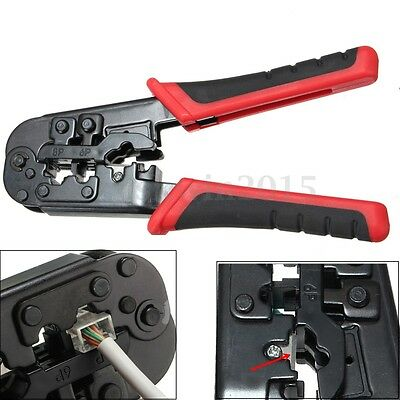 Professional Network LAN Phone Pliers Crimper Tool For CAT5e/6 RJ45/12/11 22