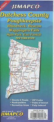 Road Map of Dutchess County, Poughkeepsie, Rhinebeck, Beacon, Wappingers Falls,