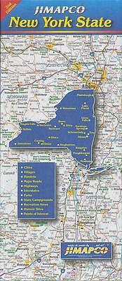 NEW - Road Map of New York State by Jimapco Staff